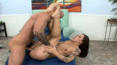 Vivian Jixxer is a tatted up skank who loves to be barebacked