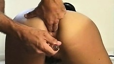 Marina has a nice ass, shows it and gets her cunny toyed and fucked