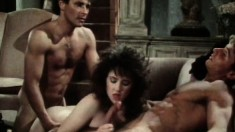 Lustful Taija Rae Fulfills Her Fantasy With Two Hung Guys On The Couch