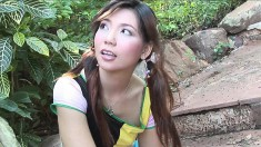 Exotic Girl Ying Charintip Shows Off Her Naughty Side In The Outdoors