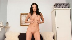 Sensuous Teen Noir Slowly Loses Her Clothes And Makes Herself Cum Hard