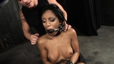 Smoking hot Kyra bends over to let her master play with her cumhole