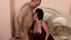 Stunning Mature Babe Gets Her Pussy Filled In Various Positions