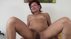 Lustful Redhead Mature Lady Doesn't Shy Away From A Huge Black Stick