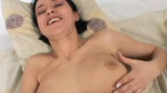 Skinny Marie gets her cooter toyed and then shoves in a speculum