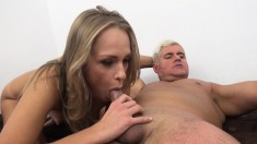 Two stacked young girls set up an exciting threesome with a hung guy