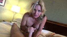 Buxom milf takes a big cock up her ass and a hot load down her throat