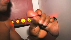 Kinky Black Guy James Puts His Mouth To Work On A Few Mystery Shafts