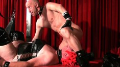 Mistress In Latex Likes Them Large As She Toys A Cunt And A Butthole