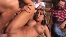 Mrs. Cross Has A Hung Stranger Eating Out And Fucking Her Juicy Peach