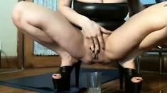 Masturbating Piss Fetish Babe Riding Toys