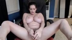 Lotus Lain Masturbates Her Chocolate Milf Pussy