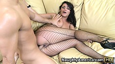 Charley gets her cunt nailed and then goes doggy for some hard pumping