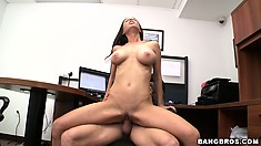 Teen babe Brandi Aniston sucking cock like a good girl in a hot POV blowjob scene
