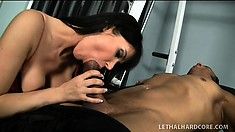 Black hunk gets to drill striking Eva Karera's inviting cumhole