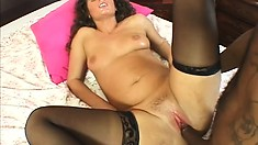 Dirty amateur chick moans while getting her curvy butt rammed hard