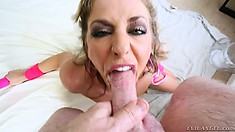 Faithful young bitch is giving her male terrific and unforgettable fellatio