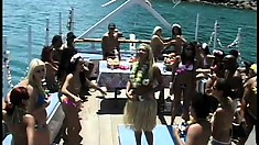 Taking a boat trip with a group of all-hole whores from South America
