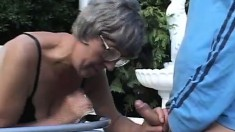 Cute young guy visits granny in the rest home and gets to bang her
