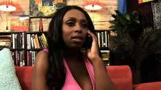 Huge breasted black girl Alisha Madison gets drilled by a white stud