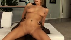 Curvy Nicole Banks seizes the chance to blow and fuck a big black dick