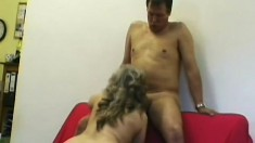 A dirty older lady still has the craving for huge hard cocks