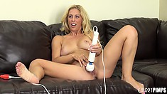 Cherie Deville finally gets totally naked and finishes her masturbation show