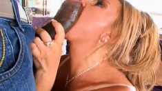 Horny Tyra Love takes every inch of a big black dick in her wet pussy