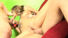 Jenna Haze goes right for the ass as she lets him pound away at it