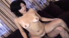 Lil Tokyo gets on top of a large dick and indulges in intense orgasms