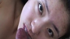 Young Asian Girl Loves Sperm