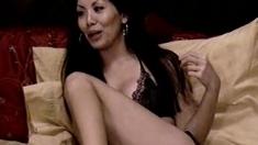 Asian MILF masturbates on cam