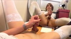 A Crossdresser With Her Big Cock Huge Load