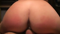 The sultry babe wildly rides that dick before spreading her legs to get banged deep