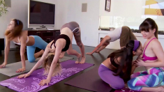 Naughty Yoga Session With Bisexual Teens And Big Cocks