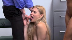 Lucky Officer Fucking A Teen And Her Stepmom For Stealing