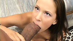 Christina is in her first interracial threesome and gets the black treatment