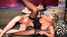 Big Saggy Tits Milf Teaches Virgin Guy How to Fuck