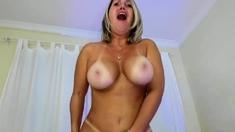 Amazing Hot Big Tits Milf Blonde