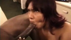 Beautiful black slut craves some firm meat up inside her snatch