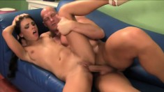 Very young and talented bitch Adriana swallows delicious sperm