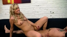 Cute Blonde Teen Sucks Cock And Takes Facial